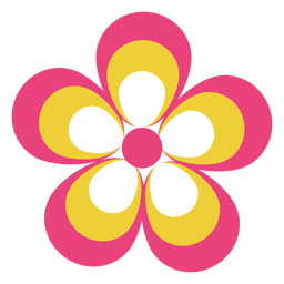 Ícone de flor colorida 4