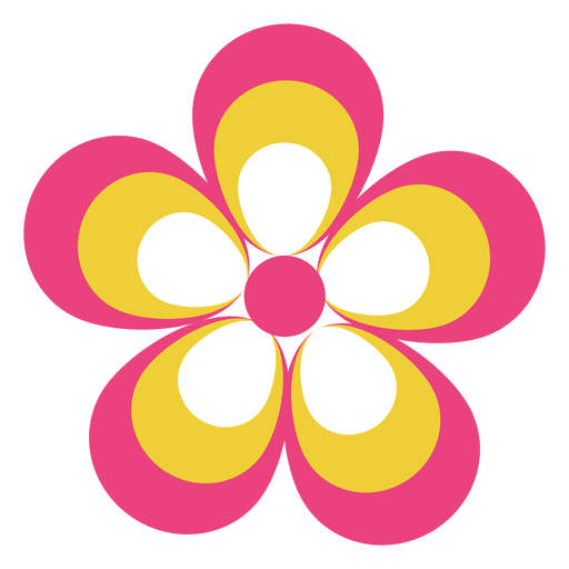 Colorful flower icon 4