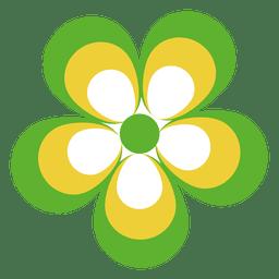 Icono de flor colorida 5