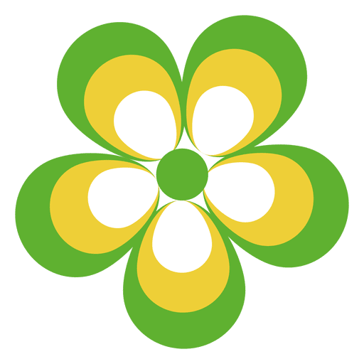 Colorful flower icon 5