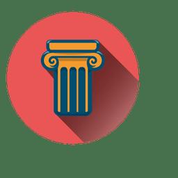 Ícone de círculo de coluna
