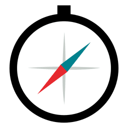 Compass flat icon