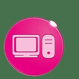 Computador, bolha, ícone