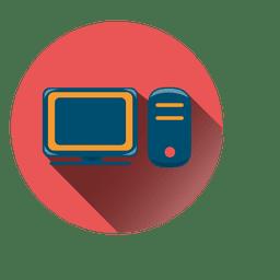 Icono de círculo de computadora