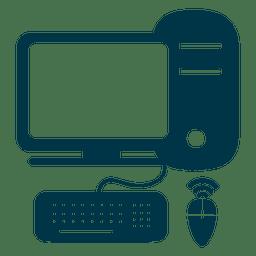 Computador, apartamento, ícone