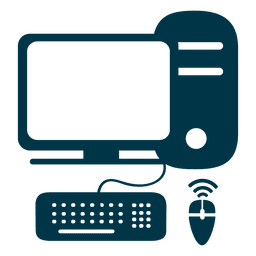 Computer flat icon