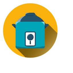 Cooker round icon