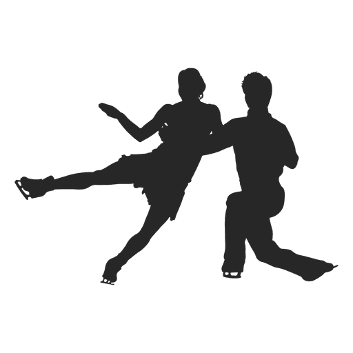 Couple ice skating Transparent PNG