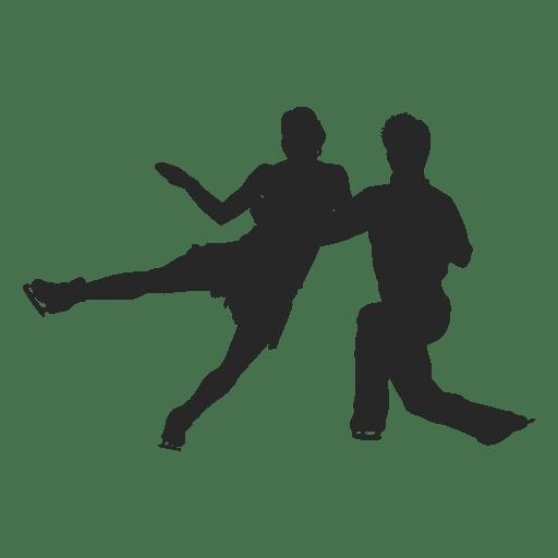 Pareja patinaje sobre hielo Transparent PNG