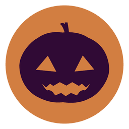 Creepy pumpkin circle icon