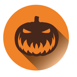Creepy pumpkin round icon