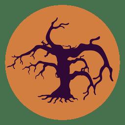 Ícone de círculo de árvore torta 1