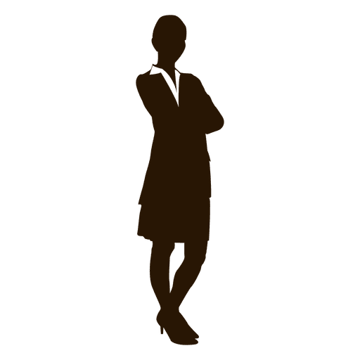 Cross arms businesswoman silhouette - Transparent PNG ...
