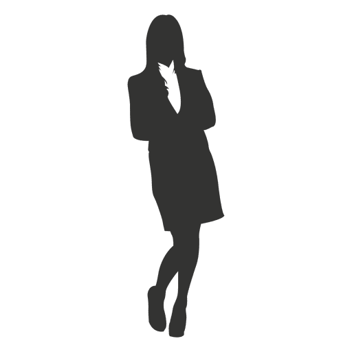 Cross arms businesswoman standing 1 Transparent PNG
