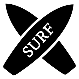 Cross surfboards icon
