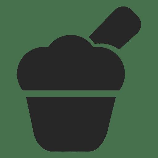 Ícone plana de bolinho Transparent PNG