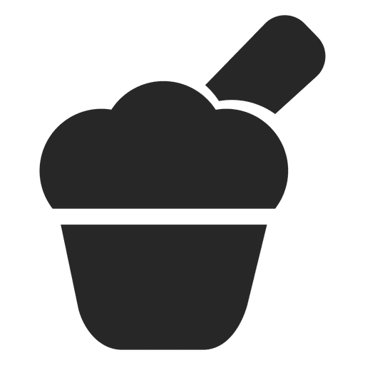 Cupcake icono plano