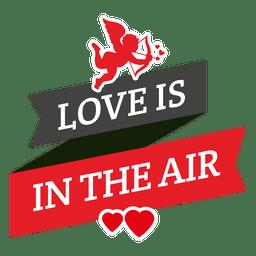 Cupid message valentine ribbon