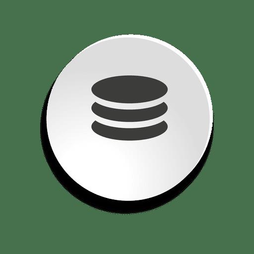 Icono de burbuja de base de datos