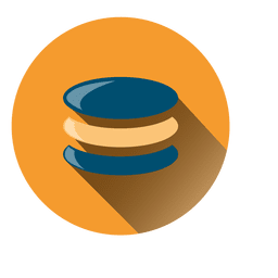 Database circle icon with drop shadow