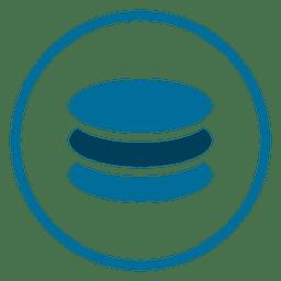 Ícone de círculo de banco de dados