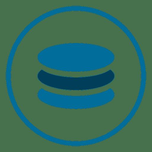 Icono de círculo de base de datos