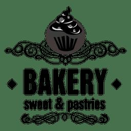 Dekorative Bäckerei-Etikett
