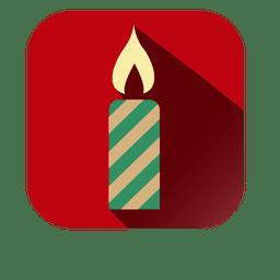 Ícone quadrado vela decorativa