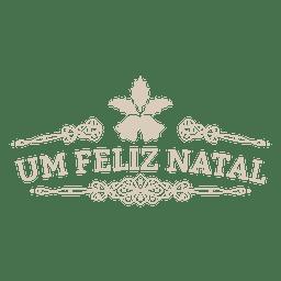Dekorativer Weihnachts-portugiesischer Aufkleber