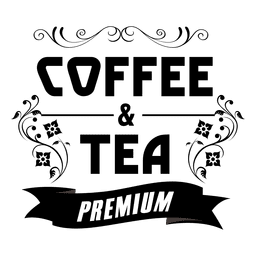 Decorative premium coffee label