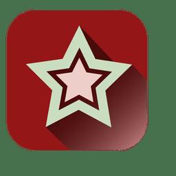 Icono cuadrado decorativo de estrella