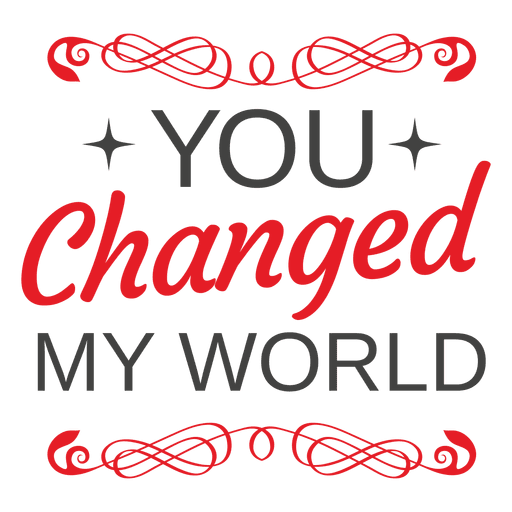 Mensaje decorativo de san valentin Transparent PNG