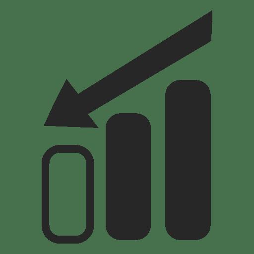 Gráfico de barras decreciente Transparent PNG