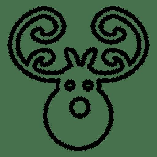 Deer head line icon Transparent PNG