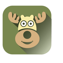 Deer head square icon