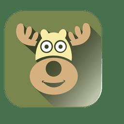 Ícone quadrado cabeça de veado