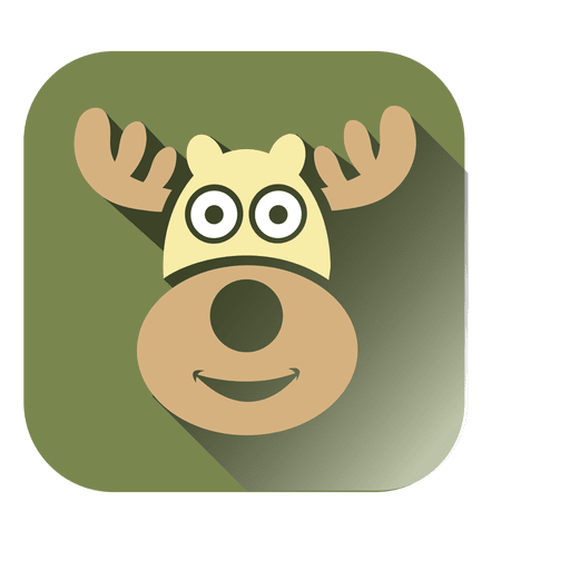 Deer head square icon Transparent PNG