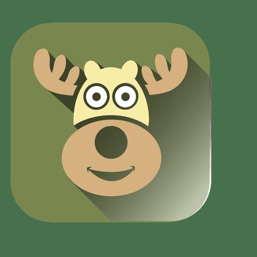 Icono cuadrado de cabeza de ciervo Transparent PNG
