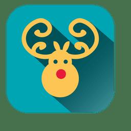 Deer head square icon