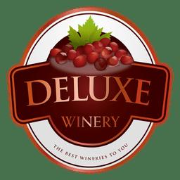 Logotipo da vinícola de luxo
