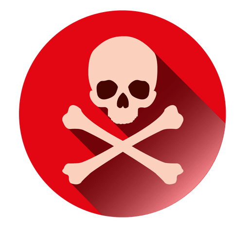 Denger sign round icon Transparent PNG
