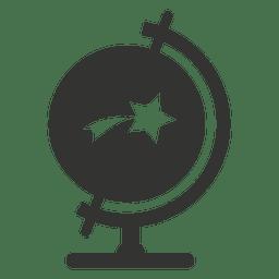 Escritorio globo con icono de estrella