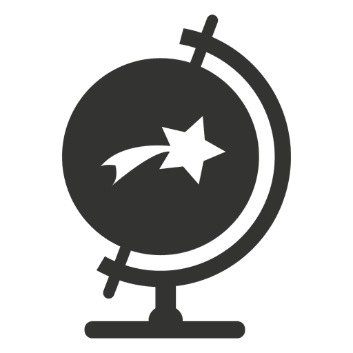 Desk globe with star icon Transparent PNG