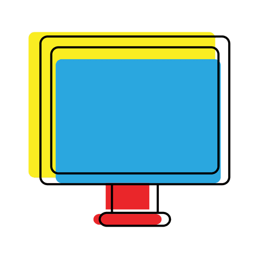 Bright offset device computer icon Transparent PNG