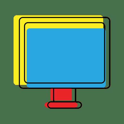 Icono de computadora de dispositivo de compensación brillante