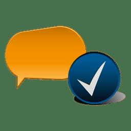Ícone de verificação de nuvem de diálogo