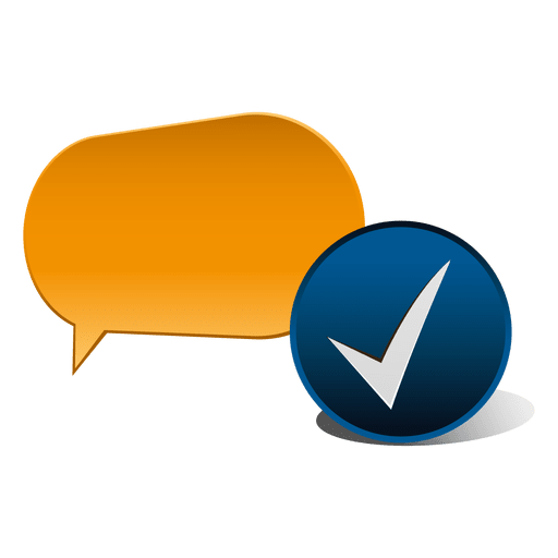Dialogue cloud check icon Transparent PNG