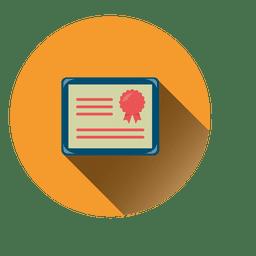 Diploma circle icon