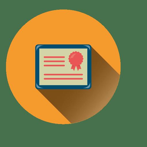 Ícone de círculo de diploma