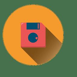 Ícone de círculo de disquete